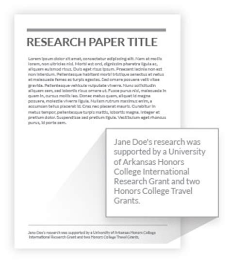 Research Papers Published By Country by Credit Your Grant Honors College Of Arkansas