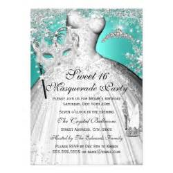 sweet 16 invitations templates free silver teal princess masquerade sweet 16 invite zazzle