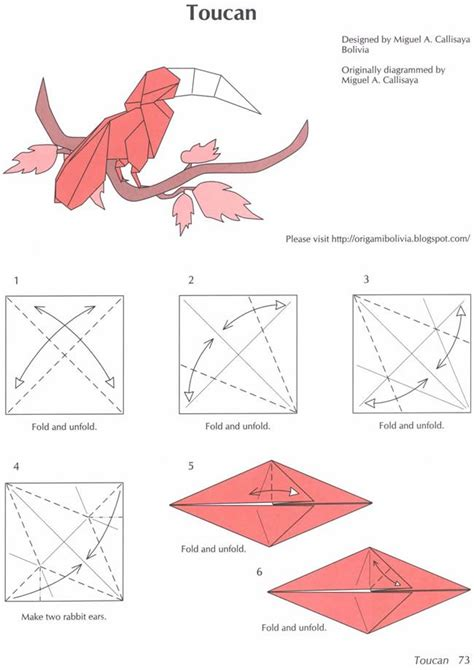 Origami Parrot Diagram - 116 best images about origami birds on origami