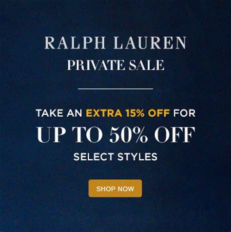 sale alert: ralph lauren up to 50% off sale