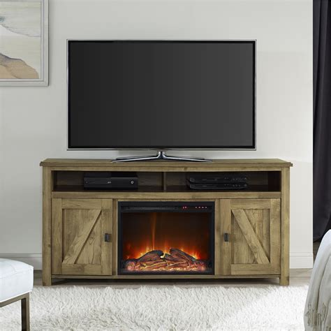 Electric Fireplace Tv Stand August Grove Gilby Tv Stand With Electric Fireplace Reviews Wayfair