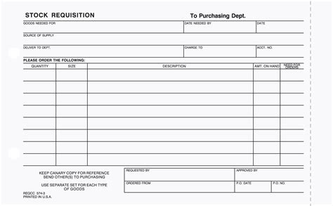stock request form template 3 part stock requisition form carbonless stargate design
