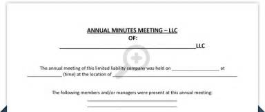 Llc Annual Report Template minutes of meeting free llc minutes of meeting template