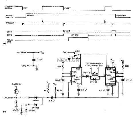 Schaltung Auto by Easy Auto Alarm Automotive Alarm Circuits Next Gr
