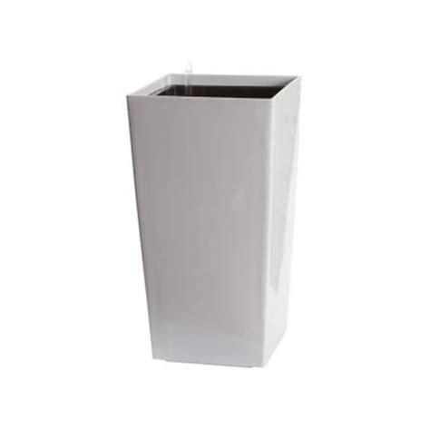 algreen modena 30 in square gloss white plastic self