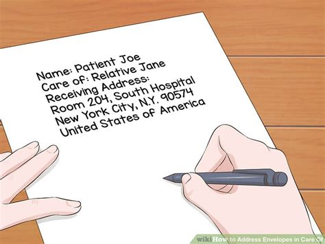 letter address format in care of how to address envelopes in care of 11 steps with pictures