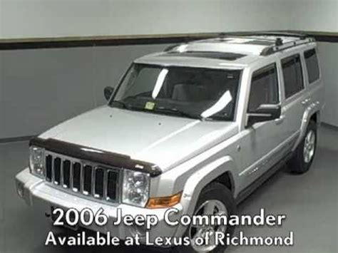 2006 lexus jeep 2006 jeep commander available at lexus of richmond