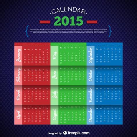 Calendario Tri Plantilla De Calendario Tricolor Descargar Vectores Gratis