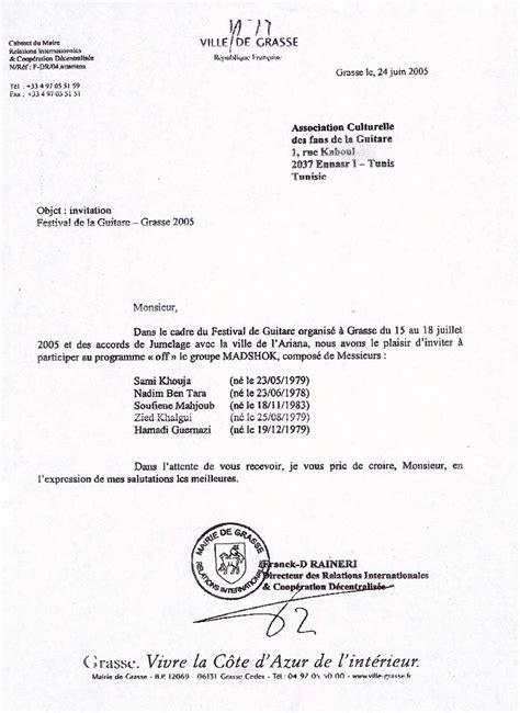Lettre Pour Demande De Visa Court Séjour Invitation Visa