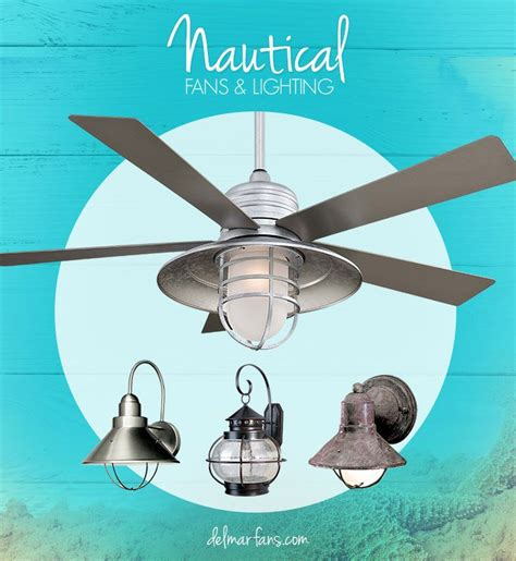 create a seaside getaway with a nautical ceiling fan or