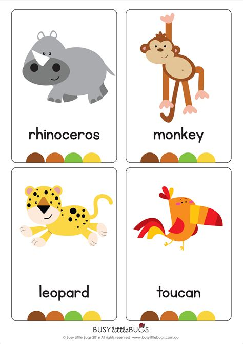 printable animal flash cards jungle animal flash cards automatic download early literacy