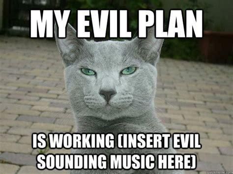 Evil Cat Meme - evil plan cat memes quickmeme
