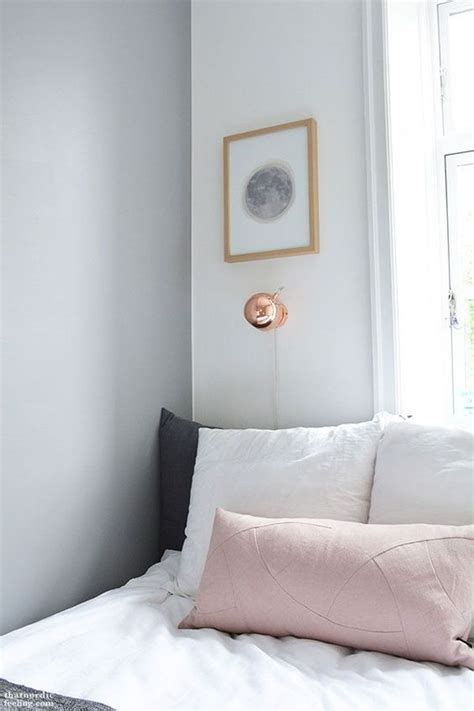 Copper Bedroom L white grey and copper bedroom grey walls copper and