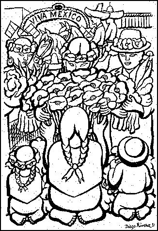 diego rivera coloring pages coloring home