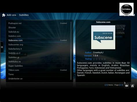 tutorial video xbmc tutorial on how to add subtitles on movies tv shows in