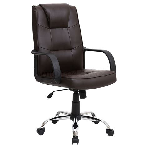 Russo Classic Faux Leather Home Office Swivel Chair Ebay Faux Leather Swivel Chair