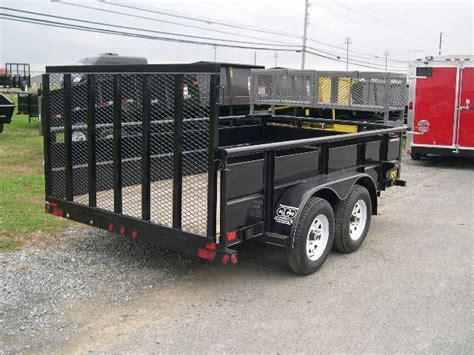 big tex 7 x 12 landscape utility trailer landscape basket