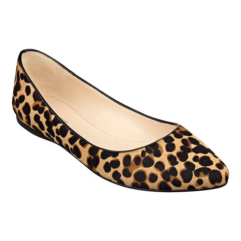 zebra print flat shoes lyst nine west speakup pointed toe flats in