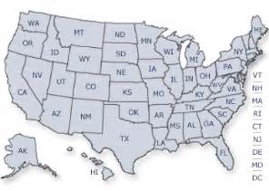 map of us time zones with the state names