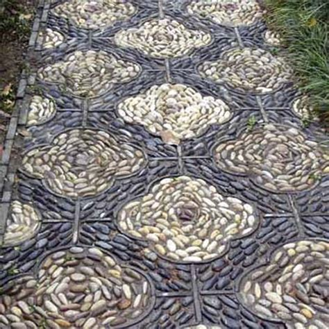 pebbled pathway  great patterns   pebble mosaic
