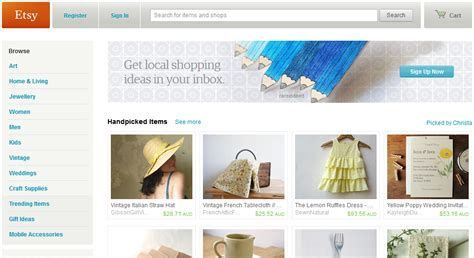 Handmade Websites - collection of 15 websites list to sell and buy