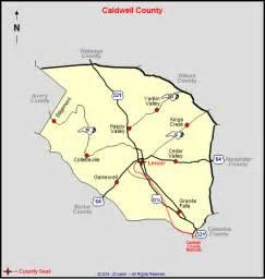 caldwell county map caldwell county carolina