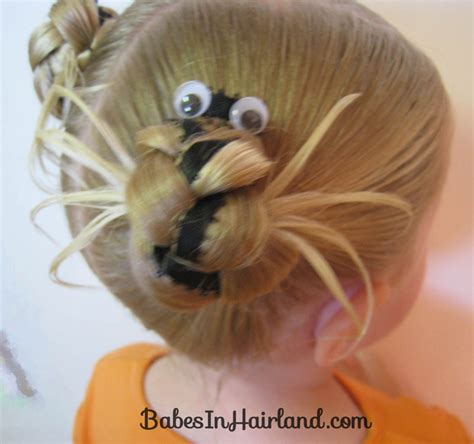 halloween themed hairstyles halloween spider hairdo babes in hairland