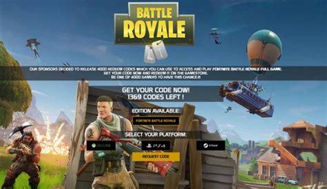 fortnite redeem code fortnite battle royale redeem code generator