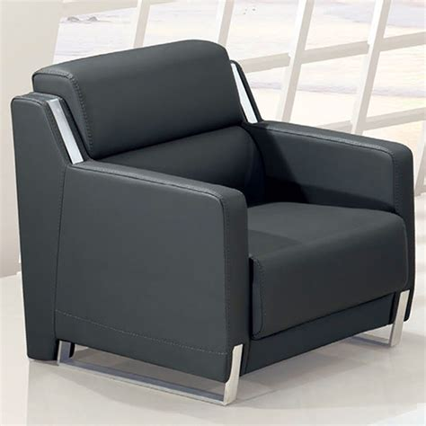 Modern Stylish Leather Sofa Minimalist Reception Parlor Stylish Leather Sofa