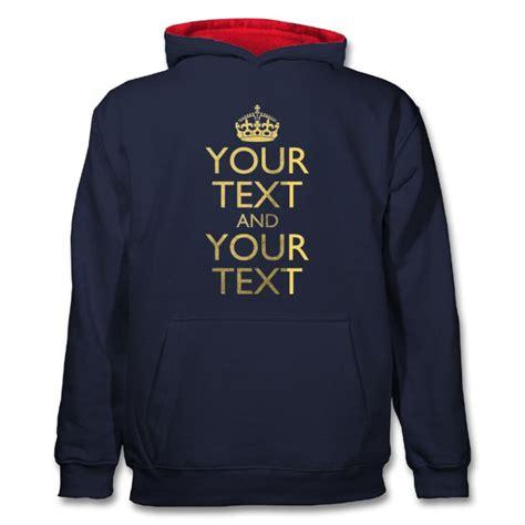 kids keep calm hoodie classic personalised hoodies