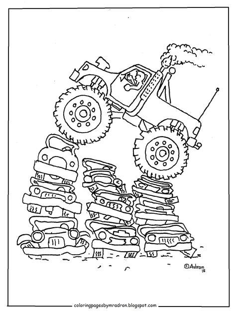 kids monster truck video monster truck coloring pages 4 monster truck coloring