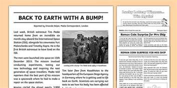 Writing A Newspaper Report Ks2 by Newspaper Report Exles Resource Pack