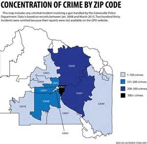 Crime Maps By Zip Code by Gainesville S Gun Related Crimes Slowly Decreasing Wuft News