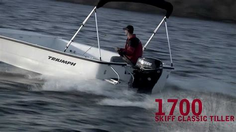 triumph boats youtube triumph 1700 skiff tiller iboats youtube