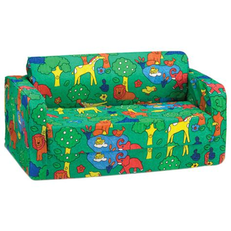 childrens flip sofa canada comfy polyester flip sofa green animal print