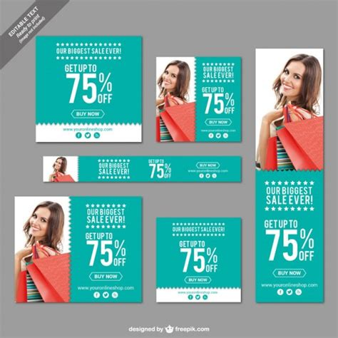 bid web big sale banners set vector free