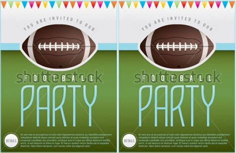 21 Football Invitation Designs Psd Vector Eps Jpg Download Freecreatives Tailgate Template