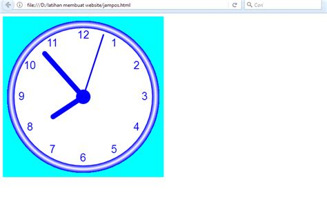 membuat jam dinding besar membuat jam dinding analog dengan html smk insan mandiri