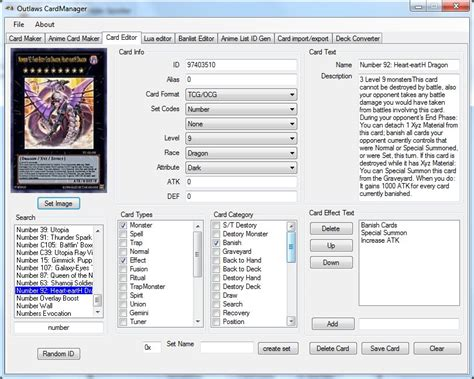 card editor ygopro tools and utilities