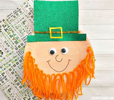 Leprechaun Paper Craft - preschool leprechaun craft to make with your of all