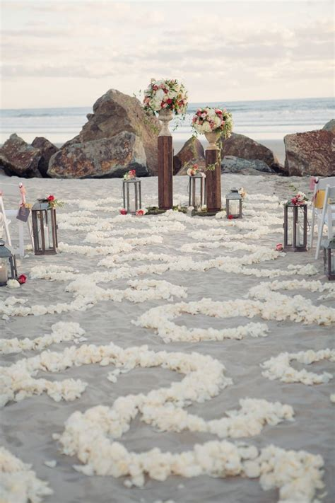 romantic wedding aisle petals decor ideas deer pearl