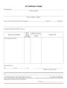 certificate of origin template usa us certificate of origin fill printable