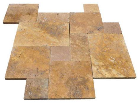french pattern gold travertine tile french pattern gold travertine pavers tumbled