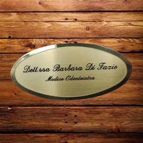 targhetta porta targhetta porta personalizzata in ottone satinato e bordo