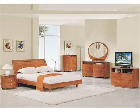 cherry bedroom set modern bedroom set elma in cherry finish 35b11