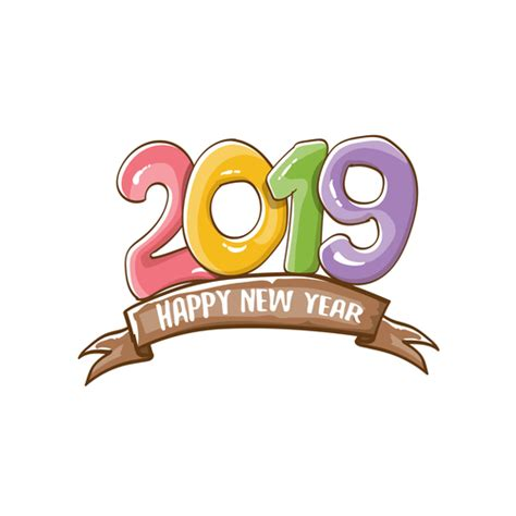 happy  year funny illustration vector