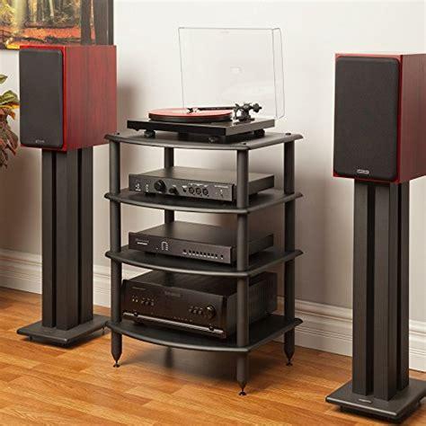 Audio Component Rack by Pangea Audio Rv400 Four Shelf Audio Rack Black