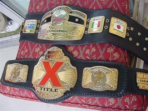 dave millican belts  maker  wwf wcw