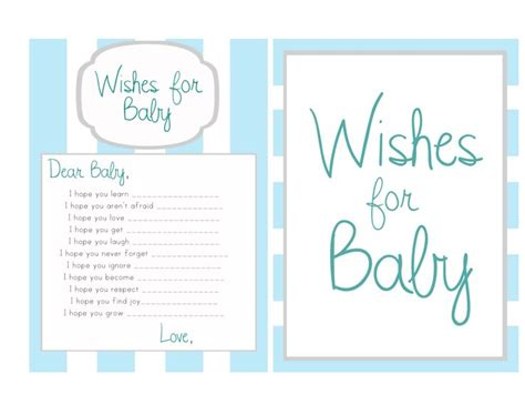 wishes for baby template wishes for baby operation hillhouse baby shower