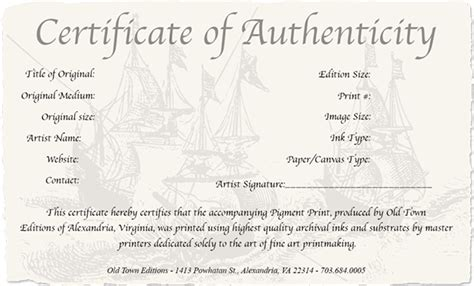 photography certificate of authenticity template how to create a certificate of authenticity for your
